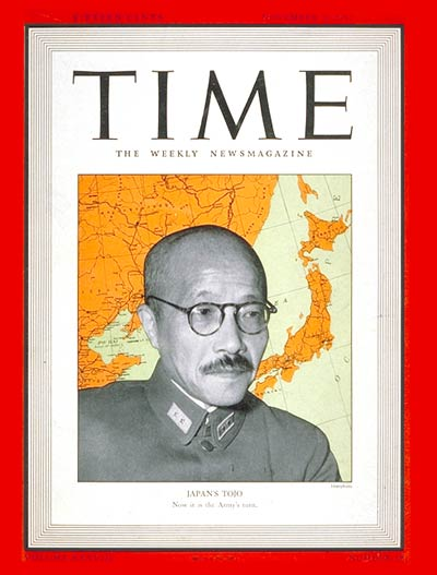 TIME Magazine Cover: Hideki Tojo -- Nov. 3, 1941