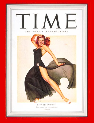 TIME Magazine Cover: Rita Hayworth -- Nov. 10, 1941