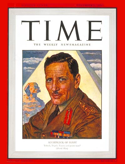 TIME Magazine Cover: Sir Claude Auchinleck -- Dec. 1, 1941