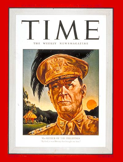 TIME Magazine Cover: General MacArthur -- Dec. 29, 1941