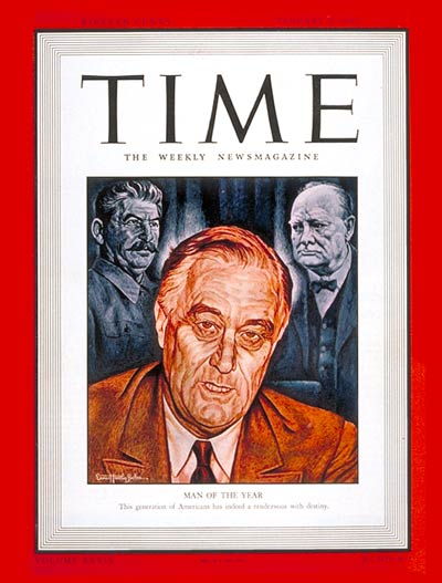 TIME Magazine Cover: Franklin D. Roosevelt, Man of the Year -- Jan. 5, 1942