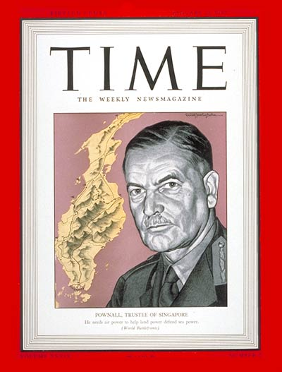 TIME Magazine Cover: Sir Henry H. Pownall -- Jan. 12, 1942