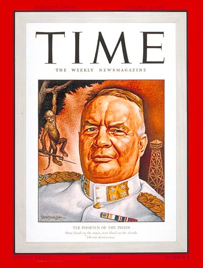 TIME Magazine Cover: Major General Poorten -- Jan. 26, 1942