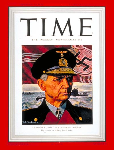 TIME Magazine Cover: Vice-Admiral Doenitz -- Feb. 2, 1942