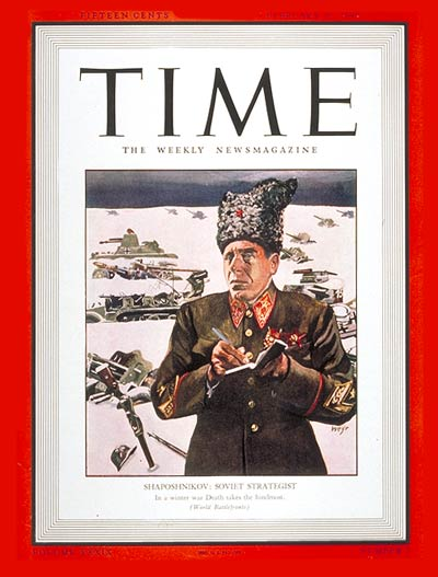 TIME Magazine Cover: Boris Shaposhnikov -- Feb. 16, 1942