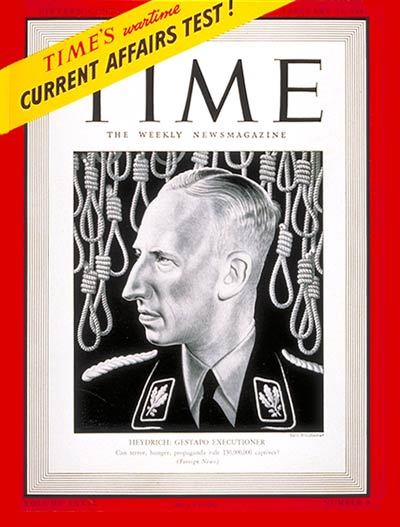 Nazi Reinhard Heydrich, 2nd in command of the Gestapo SS
