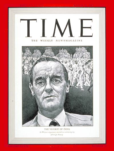TIME Magazine Cover: Lord Linlithgow -- Mar. 16, 1942