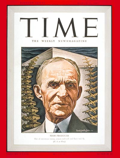 TIME Magazine Cover: Henry Ford -- Mar. 23, 1942