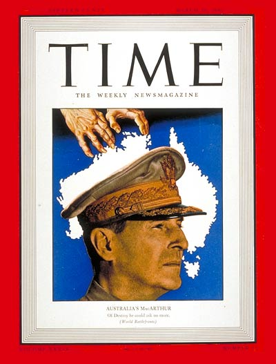 TIME Magazine Cover: General MacArthur -- Mar. 30, 1942