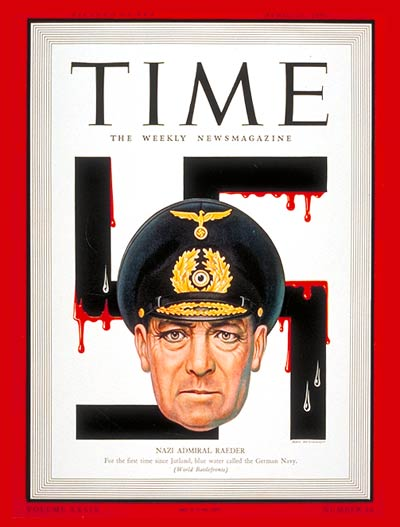 TIME Magazine Cover: Admiral Erich Raeder -- Apr. 20, 1942