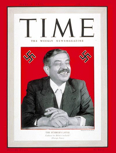 TIME Magazine Cover: Pierre Laval -- Apr. 27, 1942