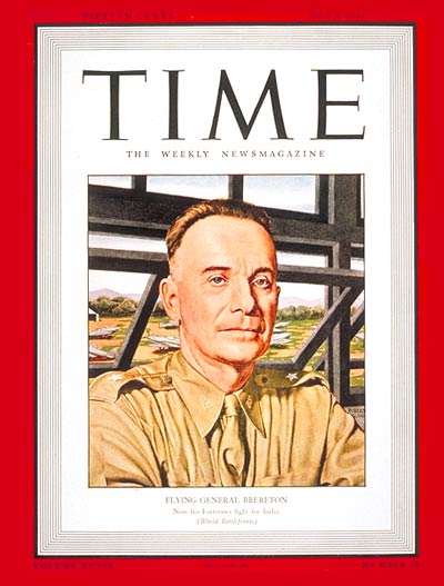 TIME Magazine Cover: Major General Brereton -- May 4, 1942