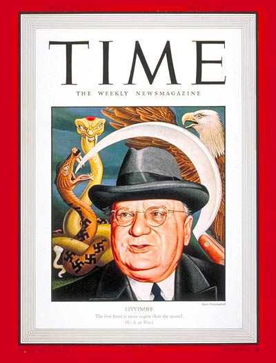 TIME Magazine Cover: Maxim Litvinoff -- May 11, 1942