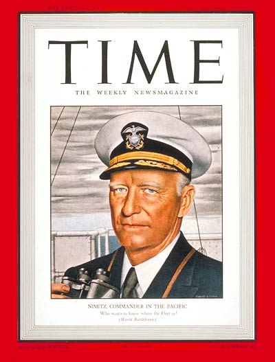 TIME Magazine Cover: Admiral Chester Nimitz -- May 18, 1942
