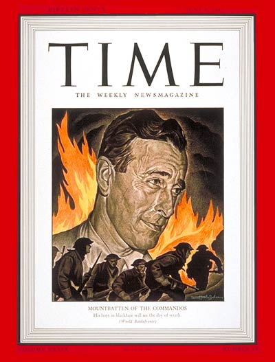 TIME Magazine Cover: Lord Louis Mountbatten -- June 8, 1942
