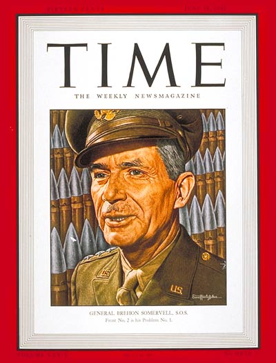 TIME Magazine Cover: Lt. General Somervell -- June 15, 1942