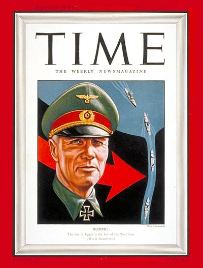 TIME Magazine Cover: Field Marshal Rommel -- July 13, 1942