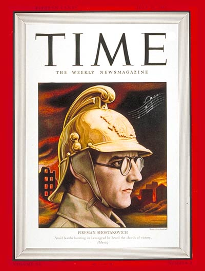 TIME Magazine Cover: Dmitri Shostakovich -- July 20, 1942