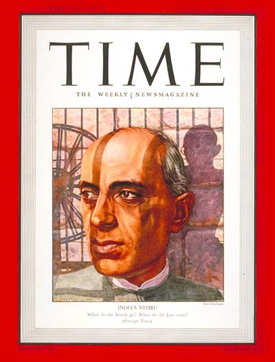 TIME Magazine Cover: Jawaharlal Nehru -- Aug. 24, 1942