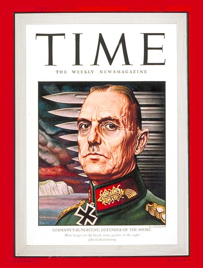 TIME Magazine Cover: Karl von Rundstedt -- Aug. 31, 1942