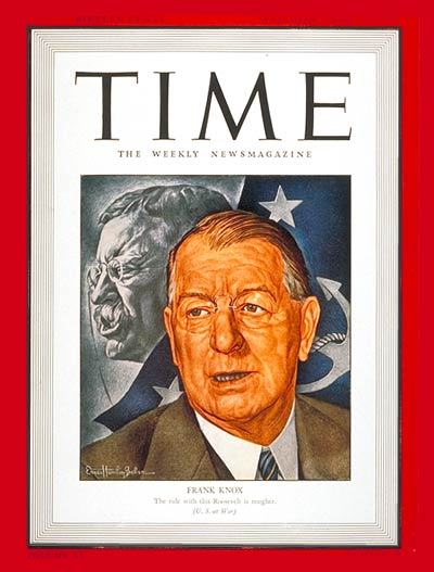 TIME Magazine Cover: Frank Knox -- Sep. 7, 1942