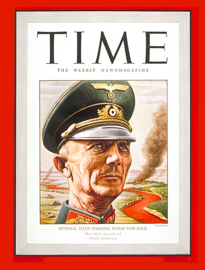 TIME Magazine Cover: Field Marshal von Bock -- Sep. 21, 1942