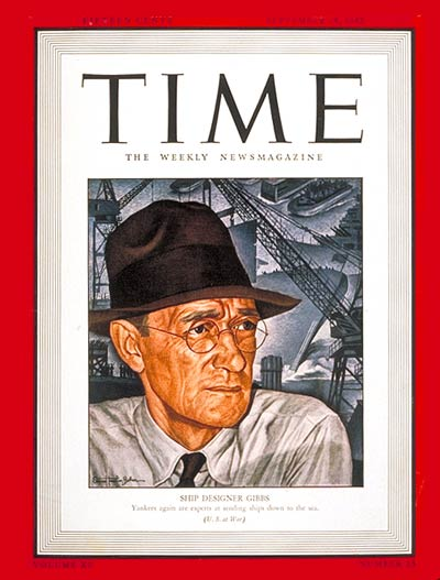 TIME Magazine Cover: William F. Gibbs -- Sep. 28, 1942
