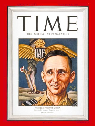 TIME Magazine Cover: Sir Arthur Tedder -- Nov. 9, 1942