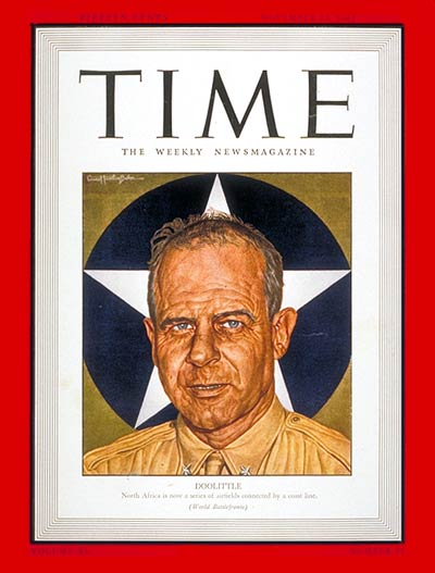 TIME Magazine Cover: James H. Doolittle -- Nov. 23, 1942