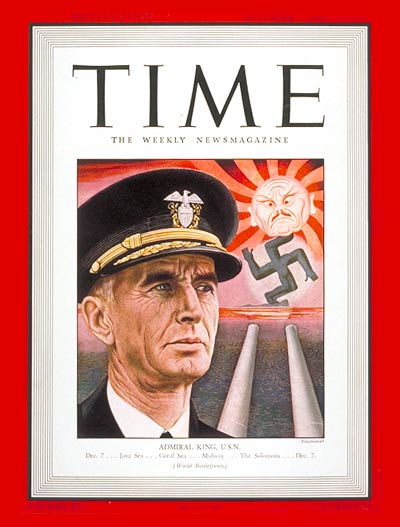 TIME Magazine Cover: Admiral Ernest J. King -- Dec. 7, 1942