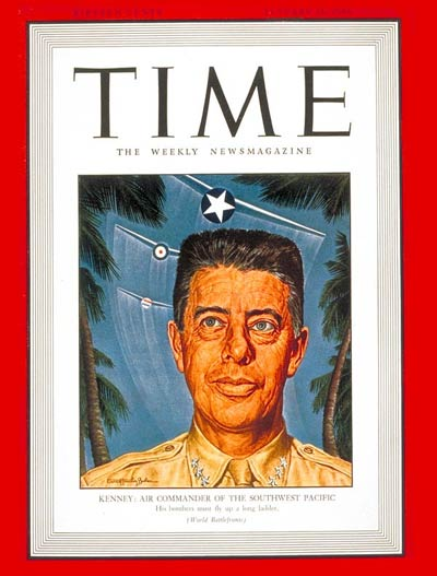 TIME Magazine Cover: Lt. General George Kenney -- Jan. 18, 1943