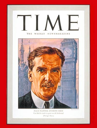 TIME Magazine Cover: Anthony Eden -- Feb. 8, 1943