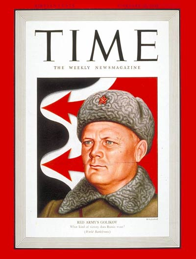 TIME Magazine Cover: Col. General Golikov -- Feb. 22, 1943
