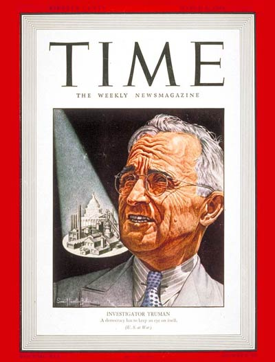 TIME Magazine Cover: Harry S. Truman -- Mar. 8, 1943