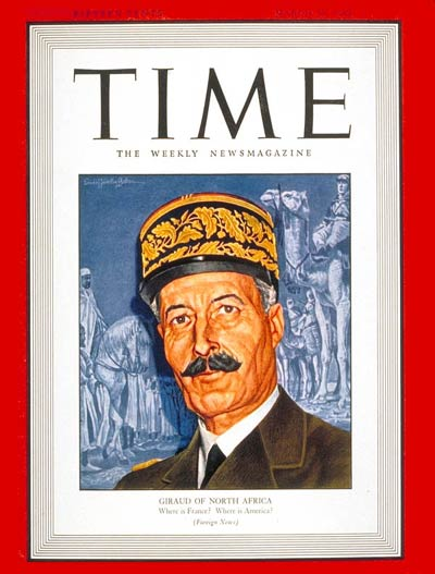 TIME Magazine Cover: Henri Giraud -- Mar. 29, 1943