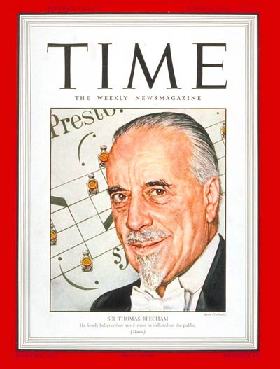 TIME Magazine Cover: Sir Thomas Beecham -- Apr. 5, 1943
