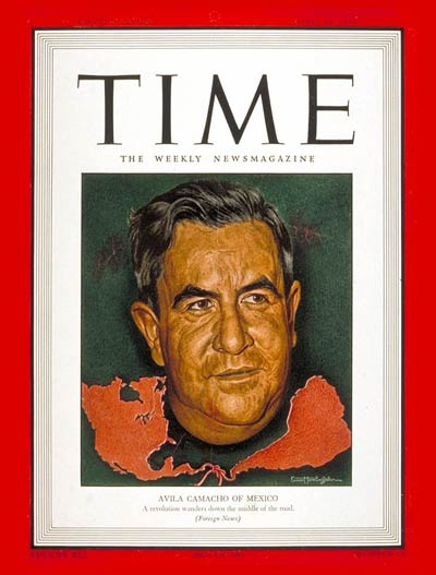 TIME Magazine Cover: Manuel Avila Camacho -- Apr. 19, 1943