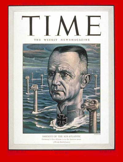 TIME Magazine Cover: Admiral Karl Doenitz -- May 10, 1943