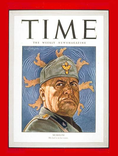 TIME Magazine Cover: Benito Mussolini -- June 21, 1943