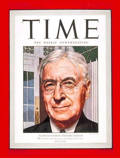 TIME Magazine Cover: Bernard Baruch -- June 28, 1943