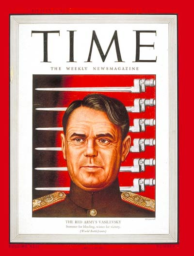 TIME Magazine Cover: Marshal Vasilevsky -- July 5, 1943