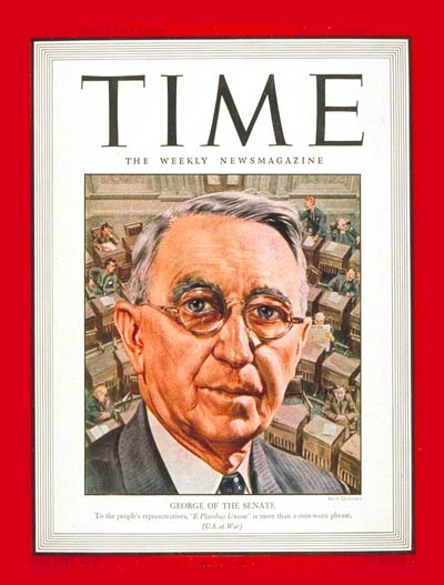 TIME Magazine Cover: Sen. Walter George -- July 19, 1943