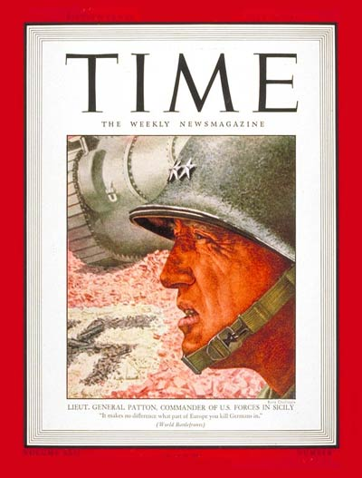 TIME Magazine Cover: Lt. General George Patton -- July 26, 1943