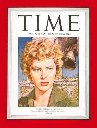 TIME Magazine Cover: Ingrid Bergman -- Aug. 2, 1943
