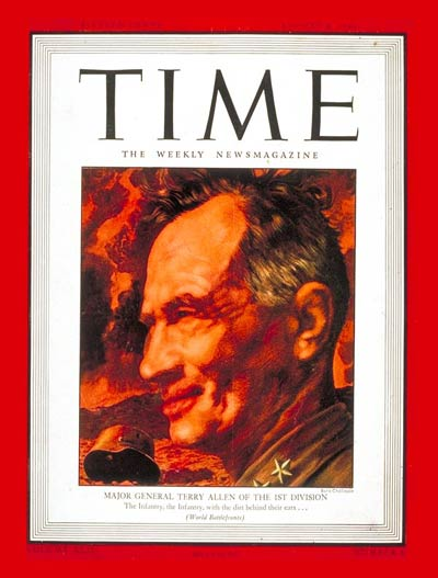 TIME Magazine Cover: Major Gen. Terry Allen -- Aug. 9, 1943