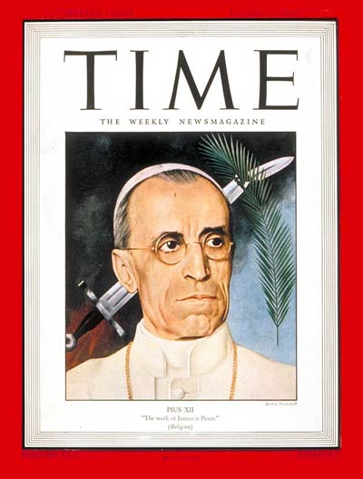 TIME Magazine Cover: Pope Pius XII -- Aug. 16, 1943