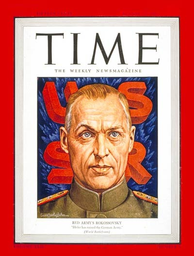TIME Magazine Cover: Konstantin Rokossovsky -- Aug. 23, 1943