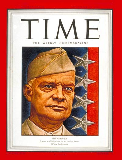 TIME Magazine Cover: Dwight D. Eisenhower -- Sep. 13, 1943