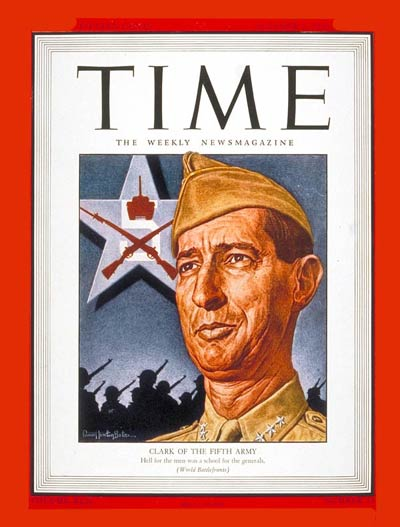 TIME Magazine Cover: Lt. Gen. Mark Clark -- Oct. 4, 1943