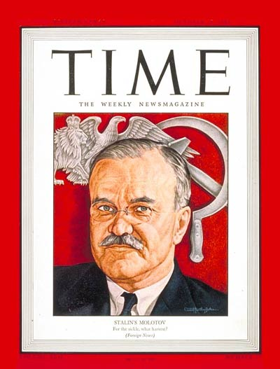 TIME Magazine Cover: Viacheslav M. Molotov -- Oct. 25, 1943